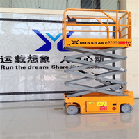 Fddable guardrails man lifting machine