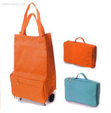 new design foldable shopping cart bag with wheels