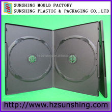 Top Quality PP 7mm Double long Plastic Black dvd case with Matte sleeve