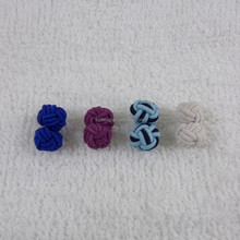 Custom Cheap Silk knot Cufflink wholesale cufflink