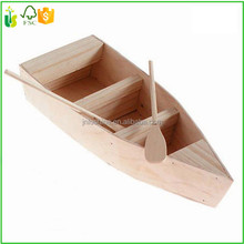 Cute VINTAGE Wooden Wood Ship Sailboat Boat Home Model Decor