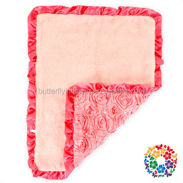 wholesale baby blankets peach warm winter fleece baby swaddle baby blanket fabric
