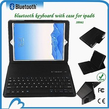 DFY leather tablet For ipad air2 case with built-in keyboard bluetooth