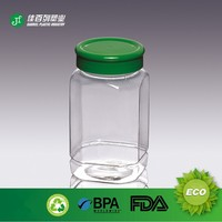 pet jar plastic jar container for honey food jam cookie packing plastic jar