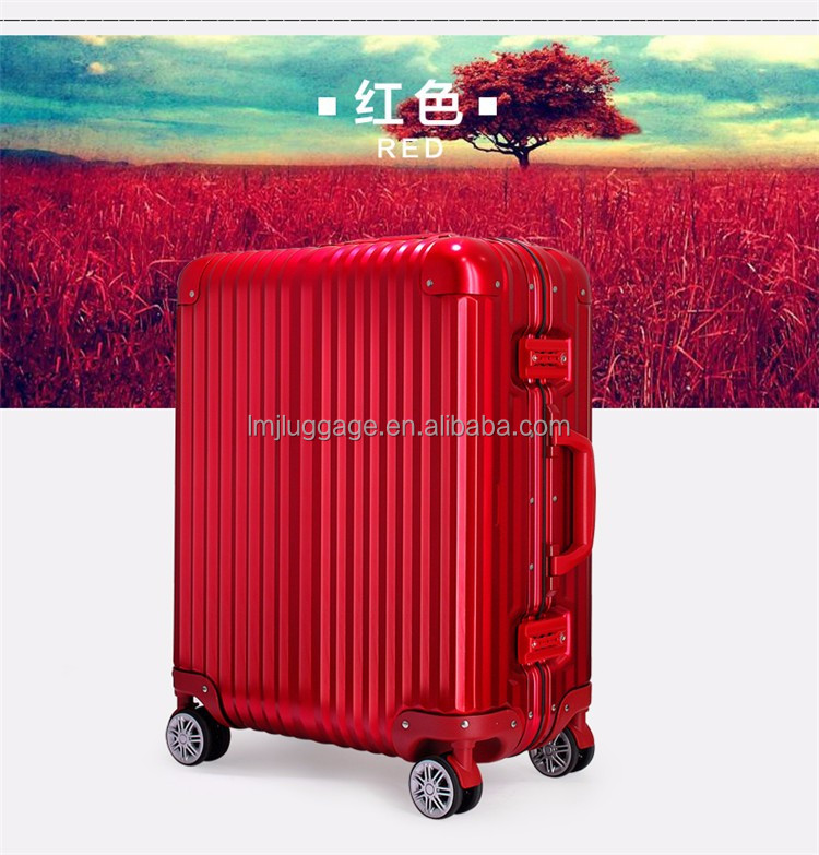 aluminum lightweight hard case trolley luggage bag carry on type luggage and suitcase
