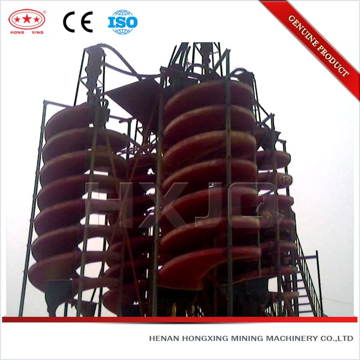 ISO high efficient chromite ore spiral chutes