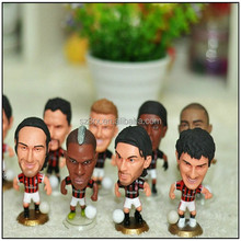 Custom soccer football player action figure,plastic miniature soccer player figure for gift