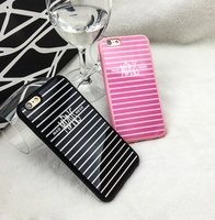Luxury Mirror skin hybrid Simple Color Stripe Rubber Soft Silicone Mobile Phone Case Back Cover For iPhone 6S 6 Plus 4.7 5.5