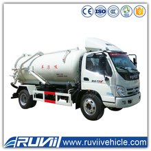 8000L Sewage Suction truck with vacuum pump for sucking waste