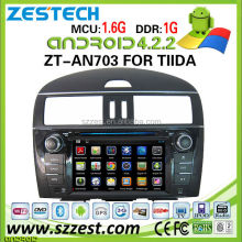 car dvd player for nissan tiida car dvd player DVR Android 4.2.2 capacitive multi touch screen ZT-AN703