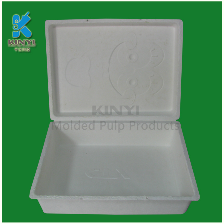 Biodegradable paper pulp boxes for packing strawberry