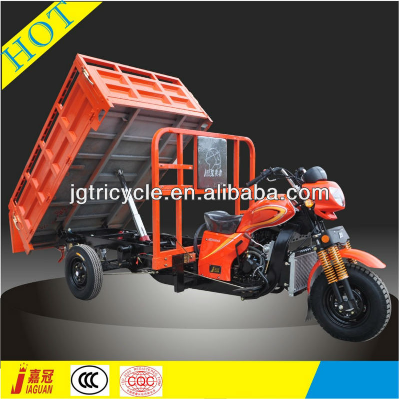 CN brand gasoline power dump rubbish motor tricycle