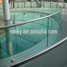 4/5/6/8/10/12mm tempered glass panel railings high quality glass railing