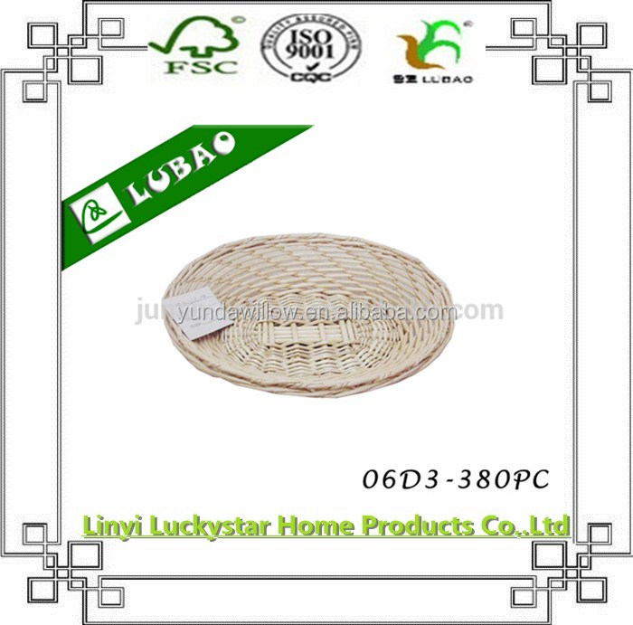 wholesale wicker plate holder for candy