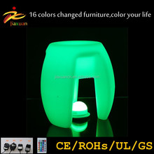 Rechargeable remote controlled led fancy lady bar stools