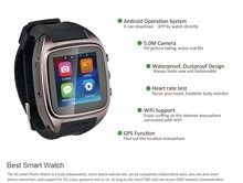 IT65 Watch phone Wholesales OEM/ODM Smart Watch Phone Waterproof Android 4.4 GPS Wifi MTK6572 Dual Core Bluetooth cell phones 3G