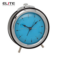 Hours minutes and seconds non-ticking silent quartz alarm clocks
