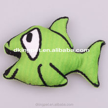 Cartoon Animal Plush Fish Sex Pet Toy for Dog with Squeaker