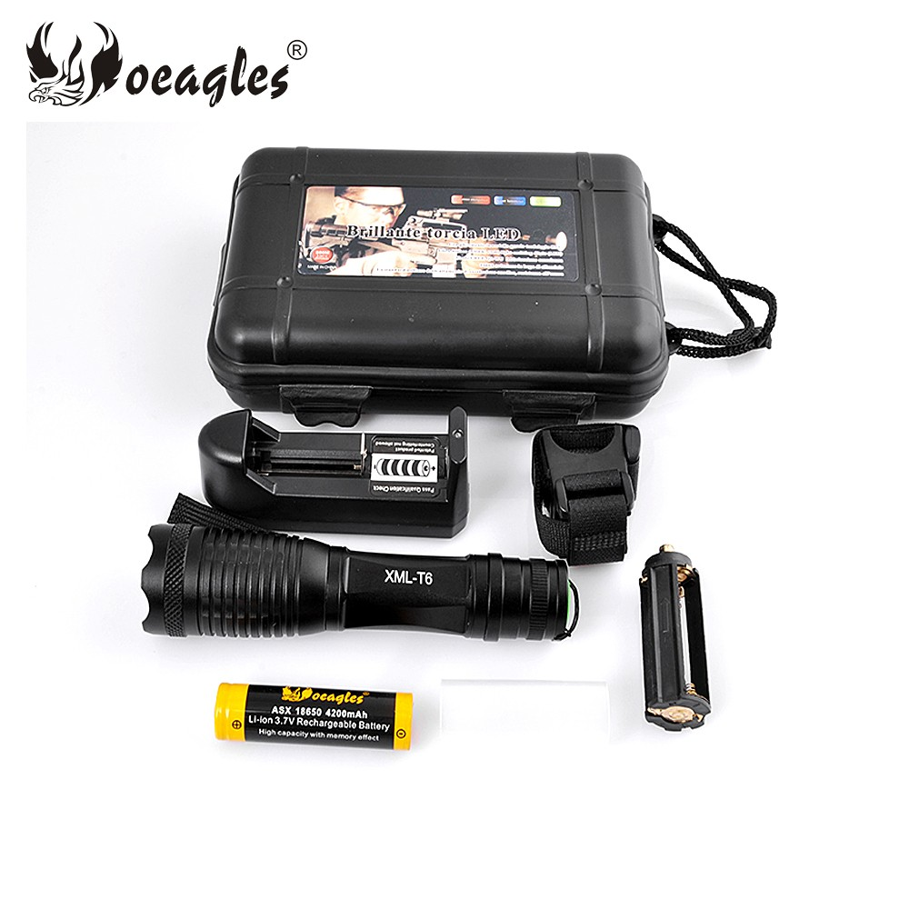 Oringal Brand New Oeagles XML-T6 3 Modes Power Style LED Bicycle Light Flashlight Torch