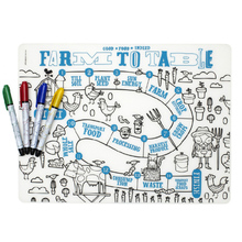 Multi Useful Kids Play Drawing Mat Washable Silicone Baby Place Mat