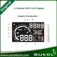 New Product v-checker original hud display for all models support OBD standard vehicles v-checker h301