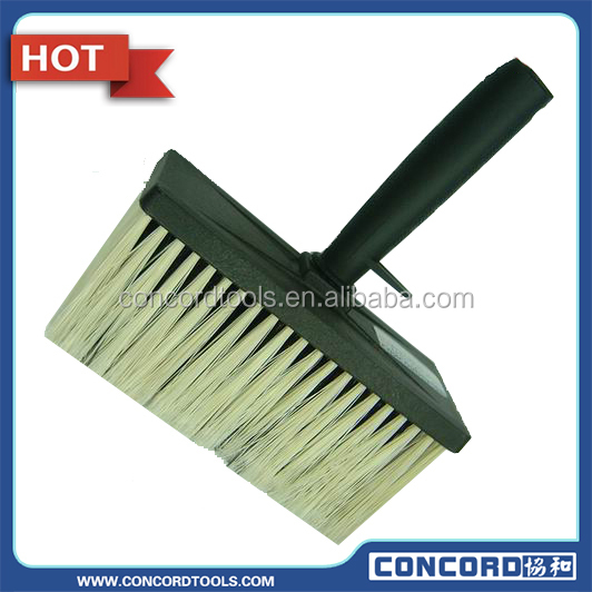 Celling brush with synthetic fiber & plastic handle