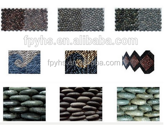 swimming pool pebbles stone decoration
