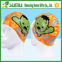 2016 most popular custom printing silicone waterproof funny swimming cap