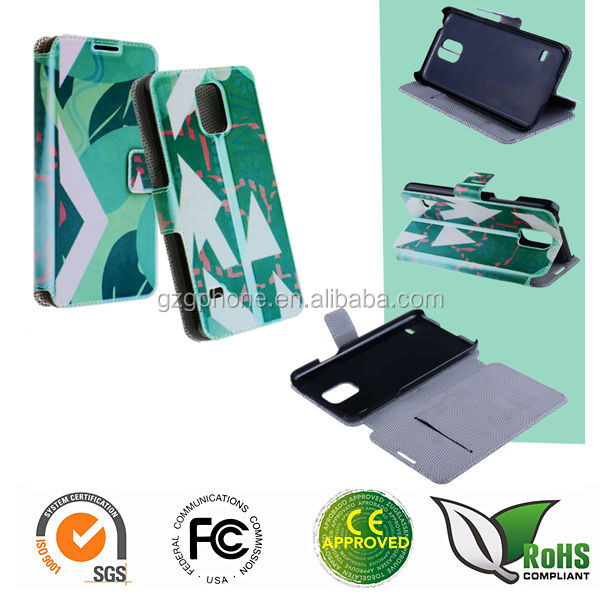 Sublimation leather case DIY printing case for Samsung galaxy S5