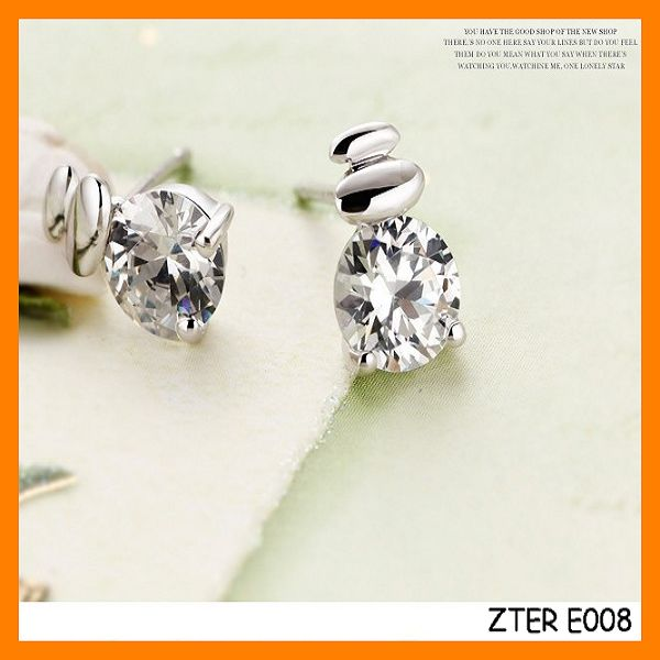 Hot Sales Popular 925 Sterling Silver Women Earring Stud Wholesale ZTER E008