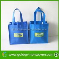 2015 China cheap design pp nonwoven folding shopping handle bag products