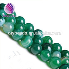 Natural semi gemstone 6 mm green striped round agate beads blue banded loose beads