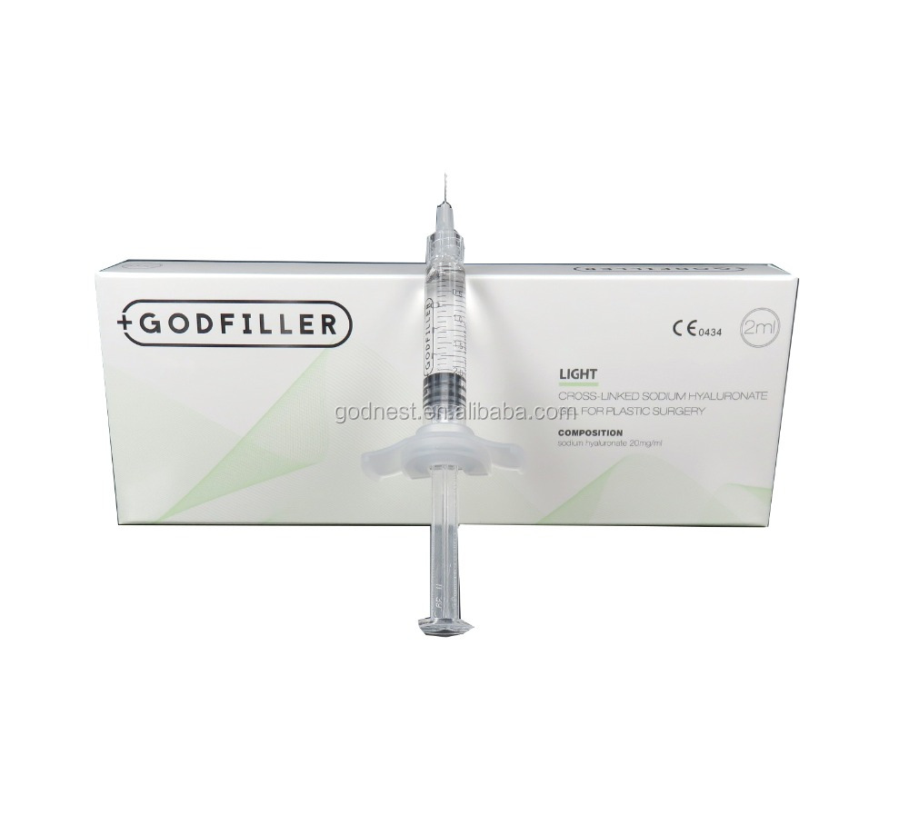 Hyaluronic Acid Injectable Facial Filler Light 2.0 ml for plastic surgery