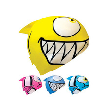 Good quality fish shape silicone swim cap