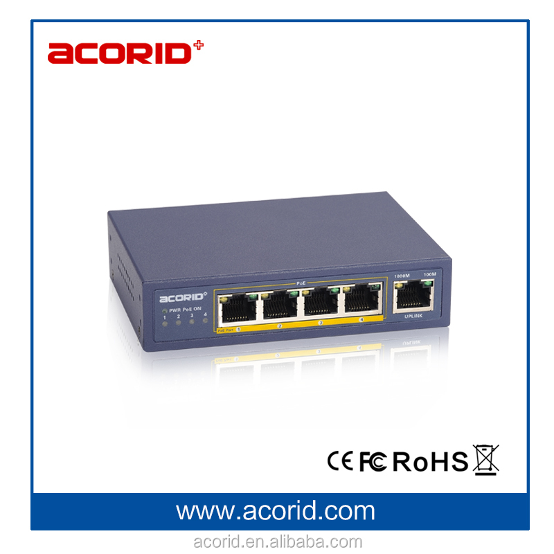 5 RJ45,4 Ports Full Gigabit PoE Switch