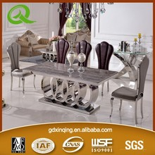 TH382 XINQING kitchen table and chairs stainless steel kitchen table