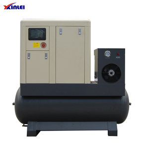 XLPMTD20A-E44 20hp frequency screw compressors with air tank and dryer