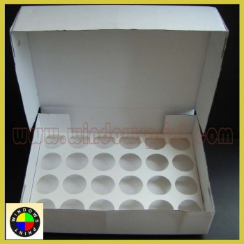 Recycle 24 holes cardboard cupcake box
