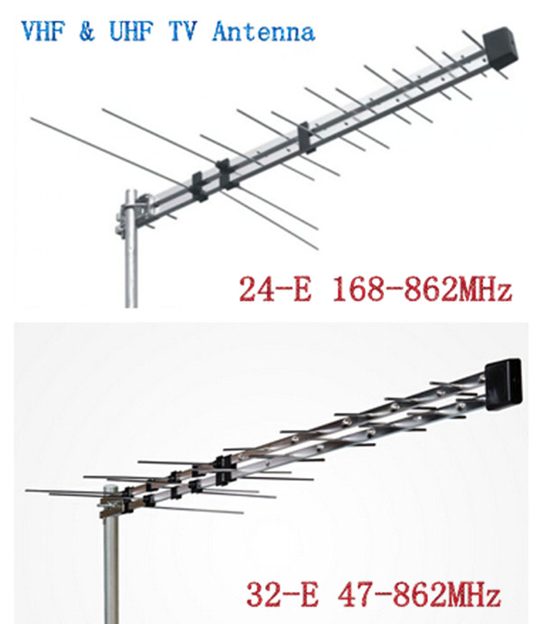 High gain 470-862Mhz DVB-T Outdoor TV antenna with RG6 coaxial cable for Africa market Television antenna