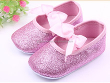 wholesale hot pink glitter baby girl shoes summer girl baby shoes