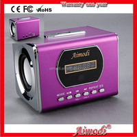 2015 popular 2 channels mini Speaker stereo portable loud speakers super bass sound box