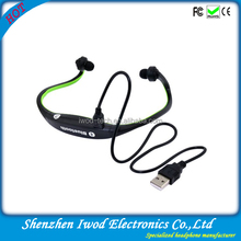telemarketing products 2014 headset mp3 player with neckband style external microphone usb charger