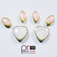 Pink Opal Teardrop sew on Rhinestones With metal Claw Setting Crystal Beads sew on beads Sewing On Garment Accessories
