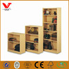 Factory price cheap MDF wooden display racks/book storage shelf cabinet