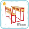 HY-0415B double shool desk chair/school desk with attached chair