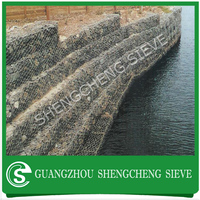 River water and flood control used anti corrosion gabion baskets/box