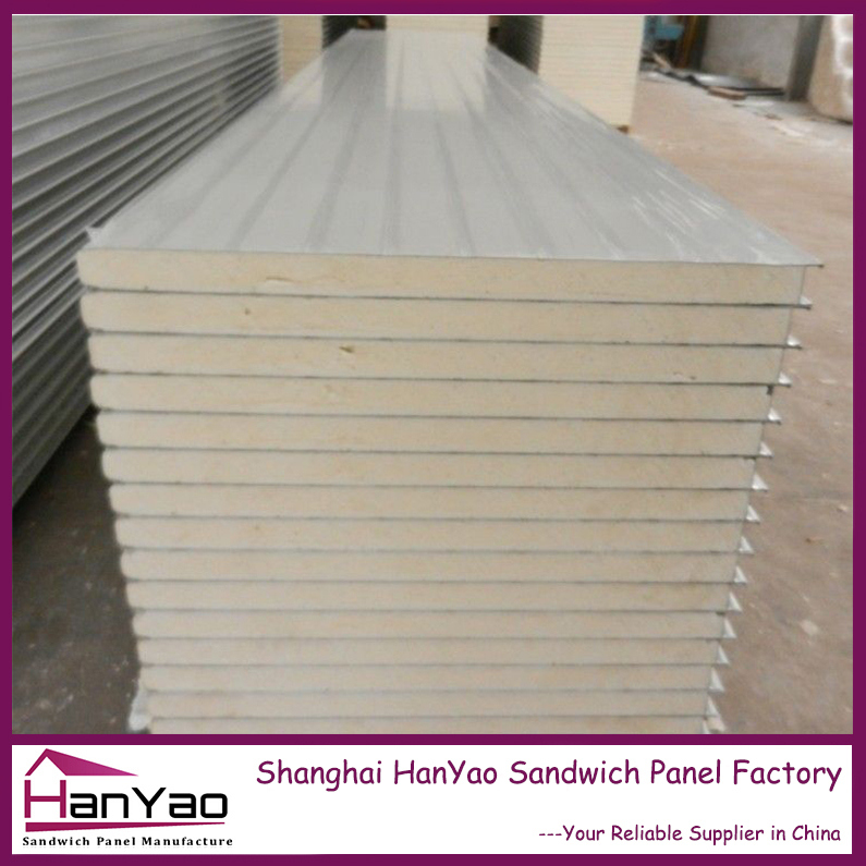 shanghai hanyao r-value insulation color steel pir sandwich panel for cold storage