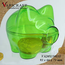 100% Food Grade Clear plastic candy box Piggy money box for kids