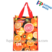 China bag advertising slogans double sided printed advertising bag promotional