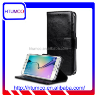 High Quality Stand Split Leather Case for Samsung Galaxy S6 Edge